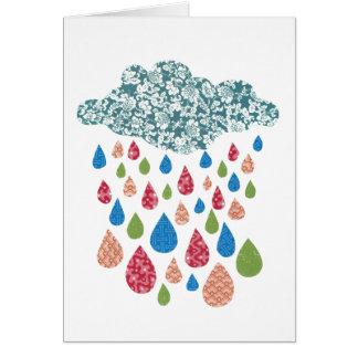 Det färgrika beställnings- meddelandet regnar hälsningskort