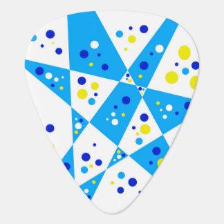 Det färgrika blåttgult- och vitpartyet pricker plektrum