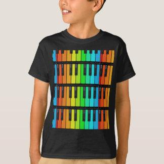 Det färgrika pianot stämm skjortan tshirts
