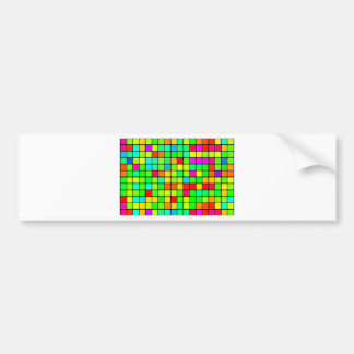 Det färgrika Retro diskot kvadrerar Bildekal