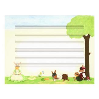 Det fina papperet för dagmusikmanuskript brevhuvud