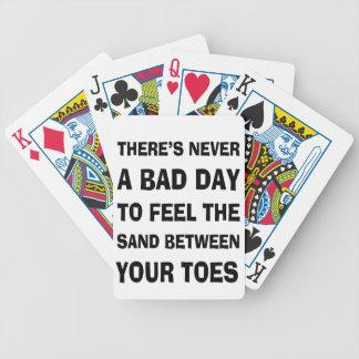 Det finns aldrig en dåligadag till spelkort