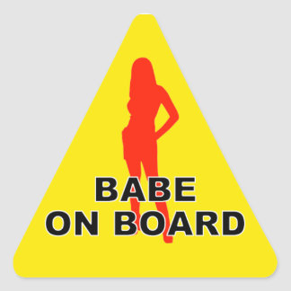 Det finns en babe ombord triangelformat klistermärke