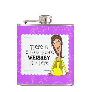 Det finns en bra riskerar whiskey är in här fickplunta