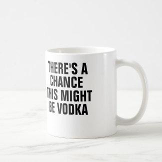 Det finns en riskera som denna styrka är vodka. kaffemugg