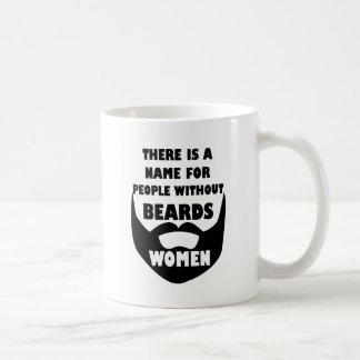Det finns ett namn för folk utan skägg…, KVINNOR Vit Mugg