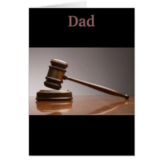 Det finns inte någon debatt, min pappa är hälsningskort