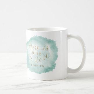 Det finns inte någon förälskad skräck kaffemugg
