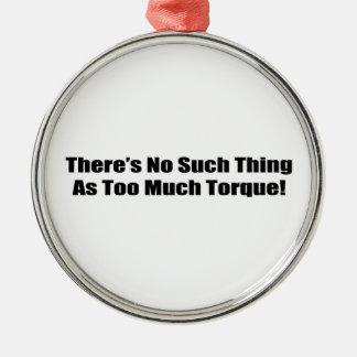 Det finns inte någon sådan sak som för mycket julgransprydnad metall