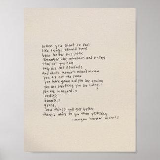 Det finns mer till dig än igår - en dikt poster