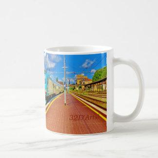 Det Florence tåg ankommer på den Lucca Kaffemugg