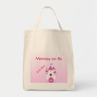 Det förtjusande rosaslottet Mamma-till-Är baby sho Mat Tygkasse
