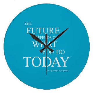 Det framtida inspirera Motivational Stor Klocka