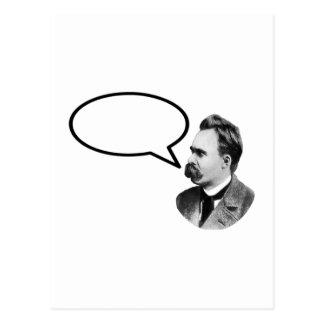 Det Friedrich Nietzsche ord bubblar det BlackThe Vykort