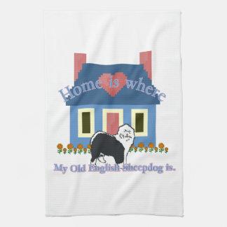 Det gammala engelska Sheepdoghemmet är Kökshandduk