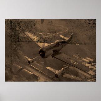 Det gammala krigflygplan dammar av och skrapar poster