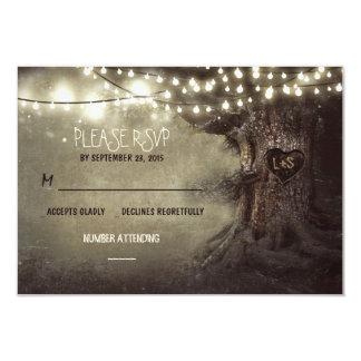 det gammala träd stränger lantliga bröllop OSAkort 8,9 X 12,7 Cm Inbjudningskort