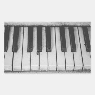 Det gammala vintagepianot stämm Stickera Rektangulärt Klistermärke