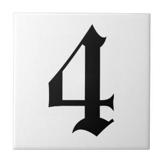 Det gotiska huset numrerar belägger med tegel 2 kakelplatta