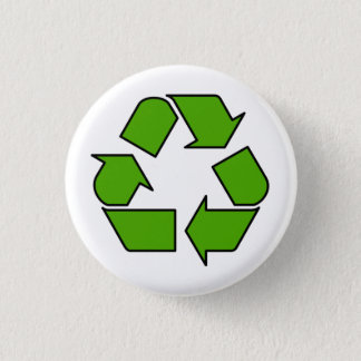 Det gröna återvinnasymbolet knäppas klämmer fast mini knapp rund 3.2 cm