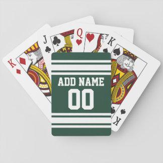 Det gröna namn för den vitfotbollJersey Spel Kort