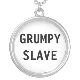 Det Grumpy halsbandet slavar Halsband Med Rund Hängsmycke