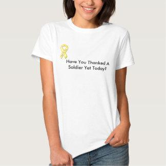 det gula bandet, har dig som tackas en soldat Yet Tee Shirts