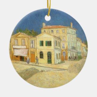 Det gula huset av Vincent Van Gogh Julgransprydnad Keramik