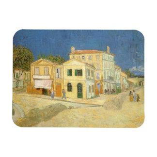 Det gula huset av Vincent Van Gogh Magnet