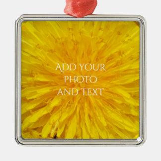 Det gula maskrosblommafotoet pricker 0560 julgransprydnad metall