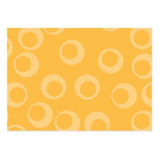 Det gula mönster av cirklar. Retro. Set Av Breda Visitkort