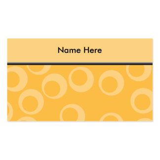 Det gula mönster av cirklar. Retro. Set Av Standard Visitkort