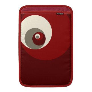 Det guld- förhållandet cirklar (rött) MacBook air sleeve