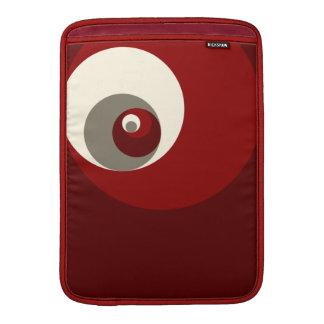 Det guld- förhållandet cirklar (rött) sleeve för MacBook air