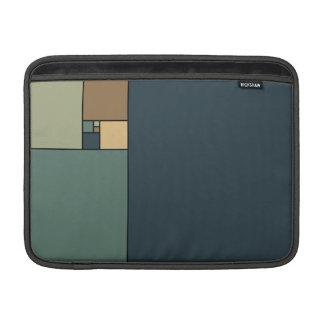 Det guld- förhållandet kvadrerar (neutralter) MacBook air sleeve