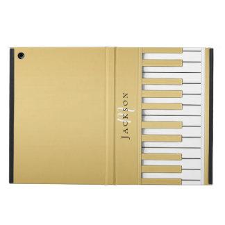 Det guld- pianot stämm MonogramiPadfodral iPad Air Skydd