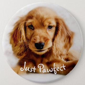 Det gulliga emblem för jumbo knapp rund 15.2 cm