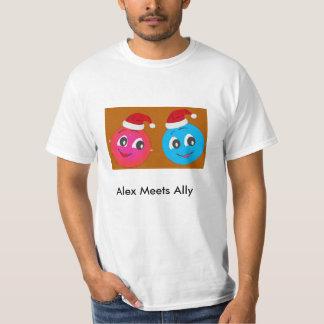 Det gulliga Smileyteckenet Alex möter ally.en T Shirts
