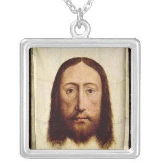 Det heliga ansiktet, c.1450-60 silverpläterat halsband