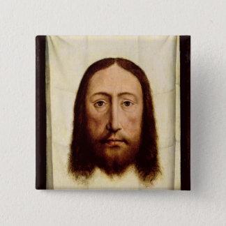 Det heliga ansiktet, c.1450-60 standard kanpp fyrkantig 5.1 cm