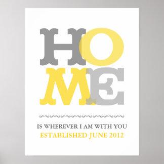 Det hem- trycket eller affischen skräddarsy person poster