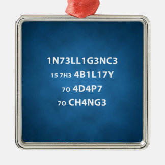 Det högvärdiga intelligenscitationstecknet julgransprydnad metall