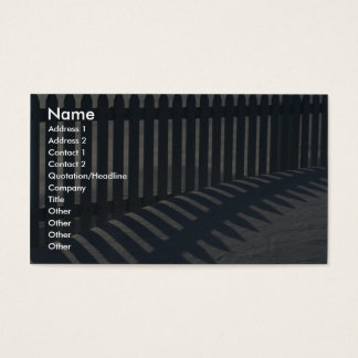 Det illustrativa staket och skuggar visitkort