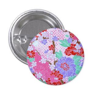Det japanska Sakura mönster knäppas Mini Knapp Rund 3.2 Cm