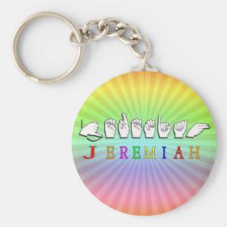 DET JEREMIAH NYCKELRINGNAMN UNDERTECKNAR ASL RUND NYCKELRING