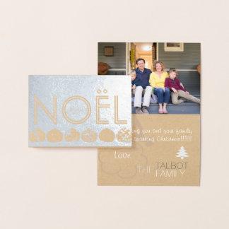 Det Joyeux Noel julgranSanta fotoet omkullkastar Folierat Kort