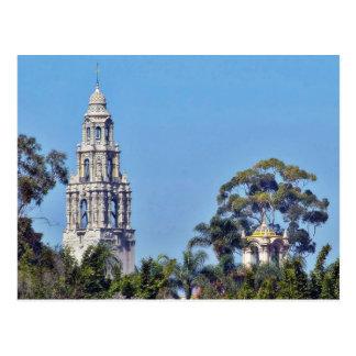 Det Kalifornien torn i Balboa parkerar San Diego Vykort