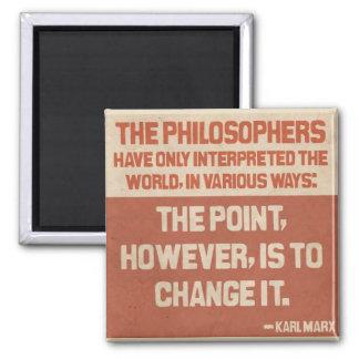 Det Karl Marx citationstecknet knäppas Magnet