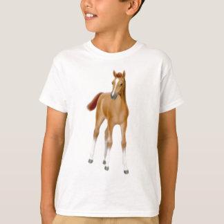 Det kastanjebruna fölet lurar T-tröja T-shirt
