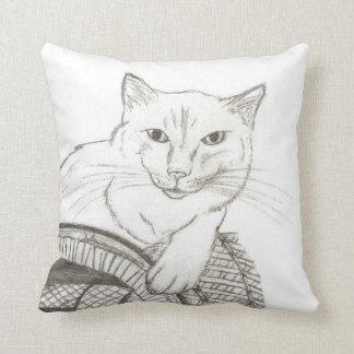 Det kattRagdoll porträtt kudder - lilor Kudde
